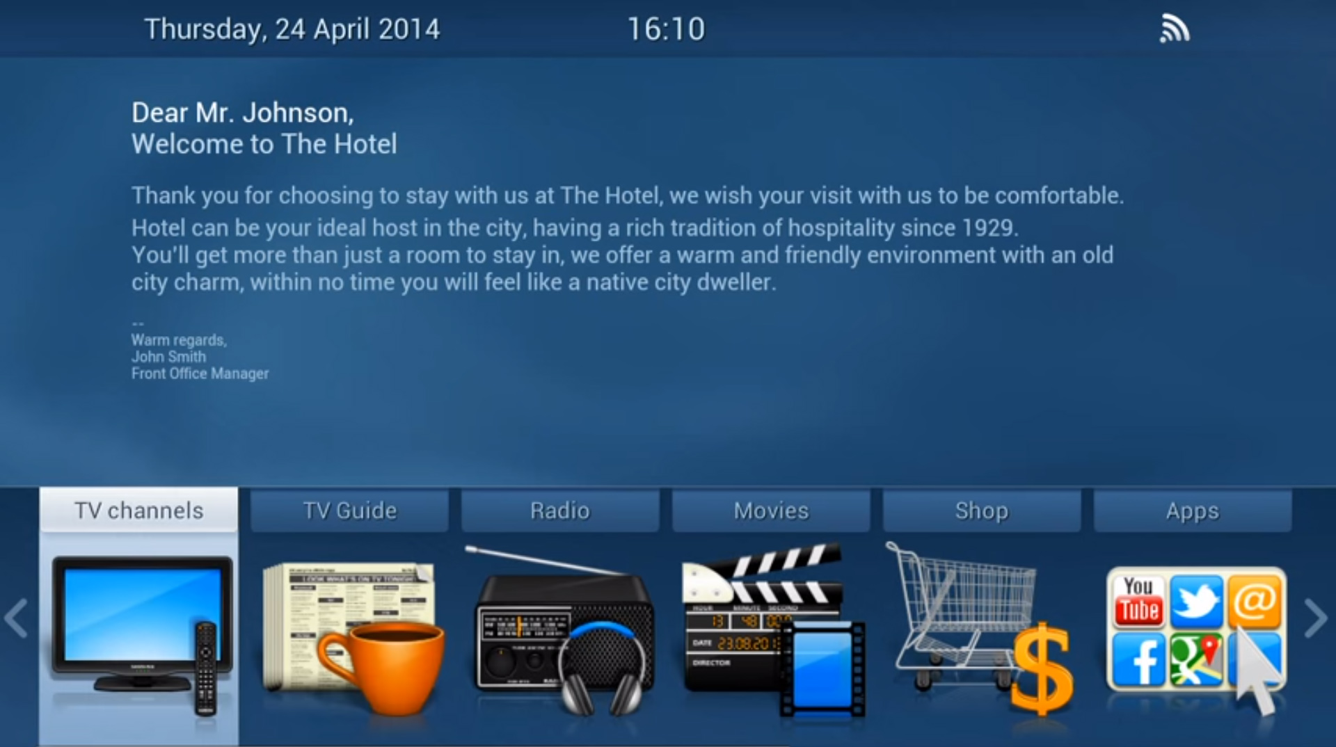 NetUP IPTV for Hotels - Interactive TV for Hotels