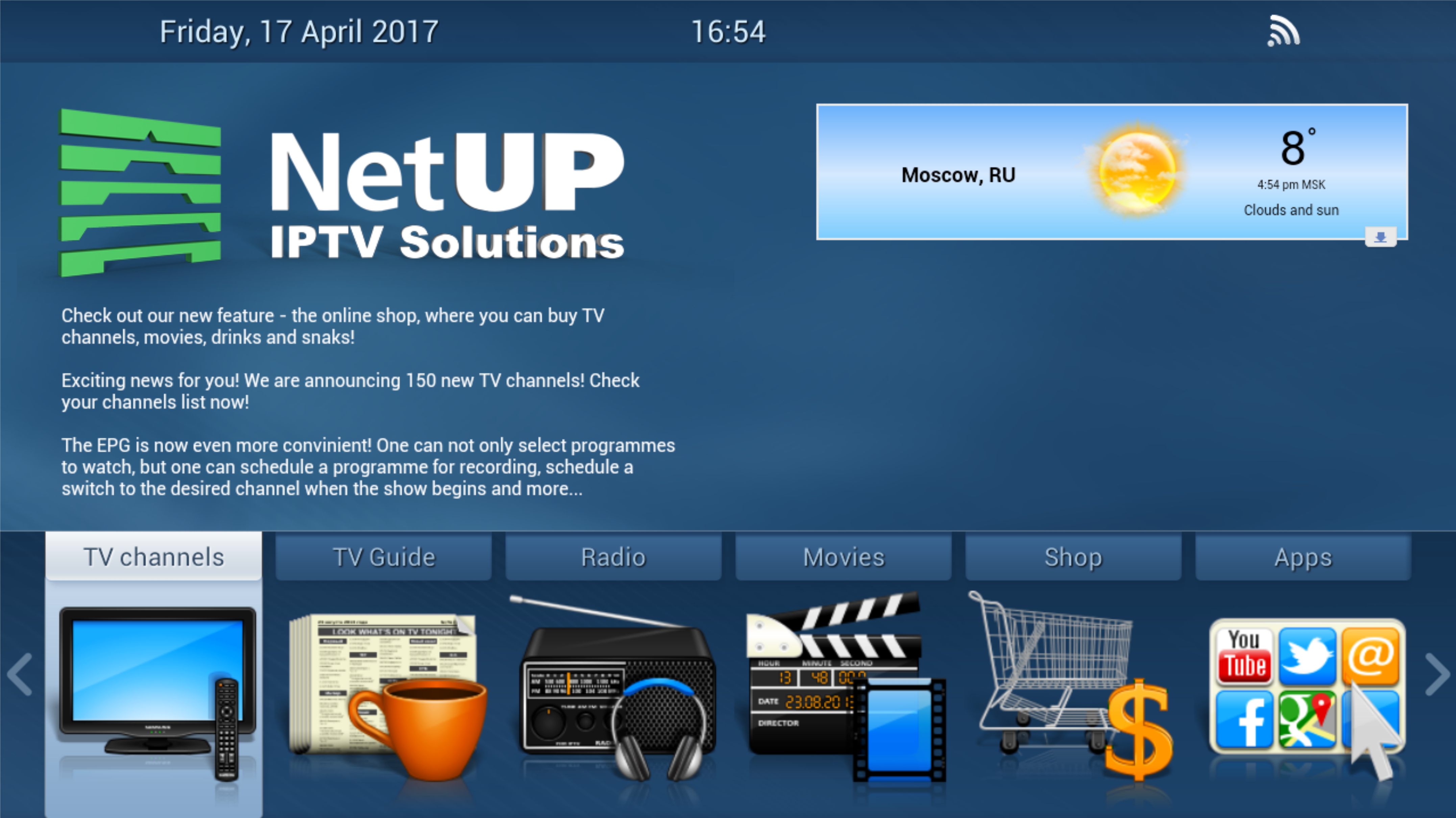 NetUP tv  Users manual